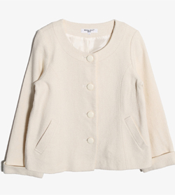 NATURAL BEAUTY BASIC - 네츄럴뷰티베이직 울 레이온 카라리스 자켓   Women L / Color - Ivory
