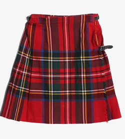 GIEN NEVIS -  울 미니 체크 랩 스커트   Made In Scotland  Women M / Color - Check